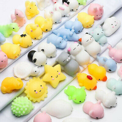 AU8.79 • Buy 50x Cute Mini Animal Squishies Kawaii Mochi Squeeze Toys Stretch Stress Squishy