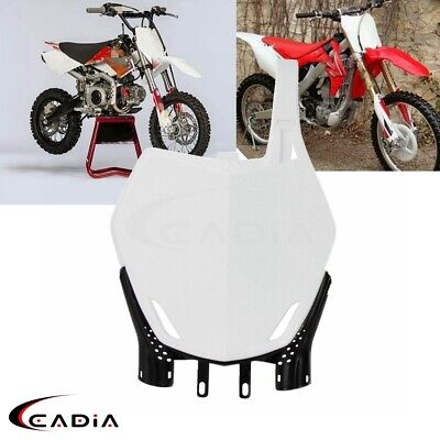 $17.99 • Buy Plastic Front Number Plate Motocrosss For YZ125 WR450F WR250X RMZ450 RM85 Enduro