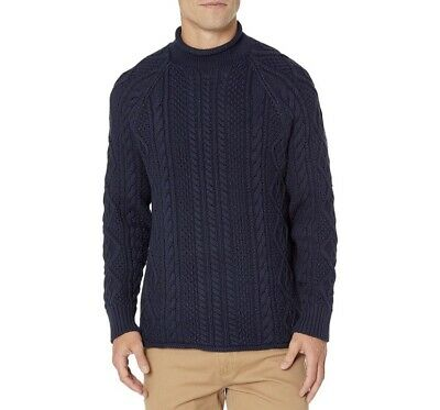 $49.99 • Buy J. Crew Always Mens Sz L? Heavy Cable Knit Pullover Sweater NWOT Fisherman Navy