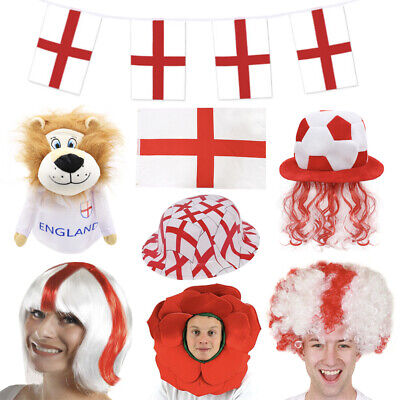 £4.99 • Buy England Football Fancy Dress Costumes & Decorations Euro 2021 St Georges Adults