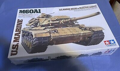 $34.99 • Buy Vintage Tamiya M60a1 Us Marine Tank With Reactive Armor ! 1/35 Scale.   Sealed