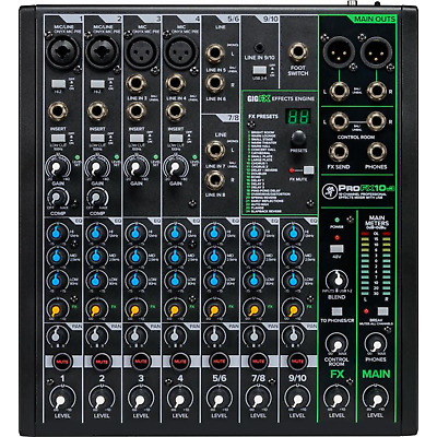 $229.99 • Buy Mackie Pro FX10 V3 Professional Effects Mixer With USB  PROFX10V3