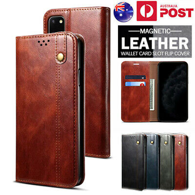 AU13.99 • Buy For OPPO A52/A72 A5/A9 Realme 7 F17 A53 Case Leather Wallet Card Slot Flip Cover