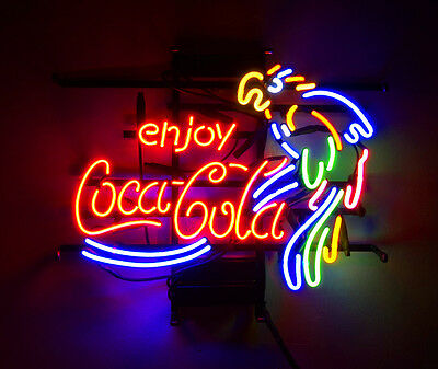 $ CDN143.94 • Buy Enjoy Cola Parrot Vintage Hand Craft Neon Sign Custom Lamp Bistro Workshop Decor