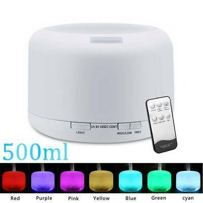 AU21.85 • Buy 500ML Essential Air Mist Oil Aroma Diffuser Ultrasonic Humidifier Aromatherapy