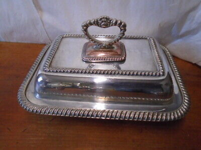 £52.50 • Buy Antique Silver Plated Entree Dish With Cover And Removable Handle