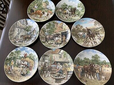 £50 • Buy Wedgwood Plates . Life On The Farm By John Chapman With Certificates