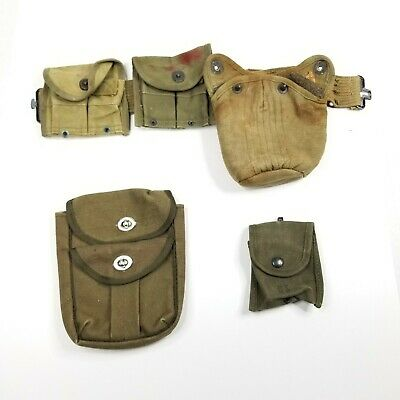 $60 • Buy Lot Of Vintage WWII Era US Army M1 Carbine Magazine Belt Pouch 1952 And Extras
