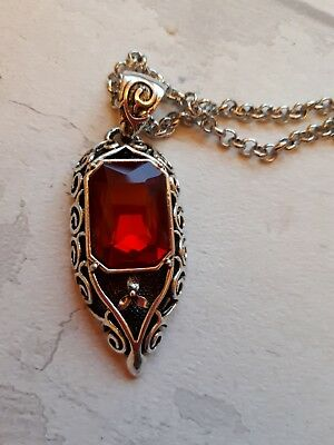 £12.50 • Buy Mortal Instruments Isabelle Lightwood Necklace Pendant Ruby Shadowhunter Clary