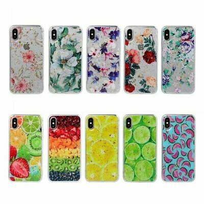 AU5.39 • Buy Glitter Flower Fruit Print Soft Case Cover For Apple IPhone XS Max XR 7 8 6 Plus