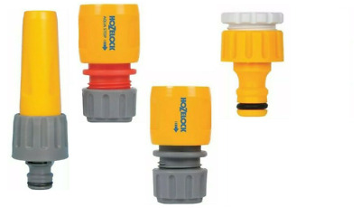 £5.20 • Buy Garden Hose Attachments Hozelock Nozzle, Tap End, Water Stop Connector, Kit 2355