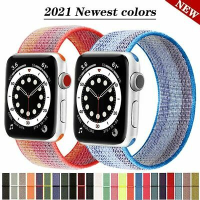 AU5.99 • Buy 【Woven Nylon Band】Apple Watch IWatch SE 6 5 4 3 2 1 Sport Strap Loop 38/40 42/44