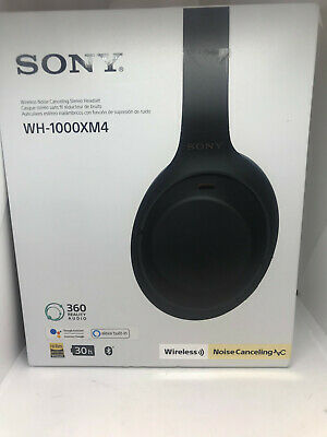 $ CDN237.29 • Buy Sony WH1000XM4/B Premium Noise Cancelling Wireless Over-the-Ear Headphones BLK
