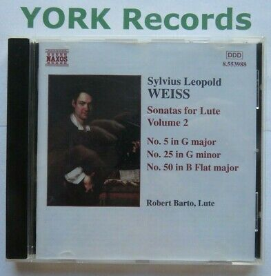 £4.99 • Buy WEISS - Sonatas For Lute Volume 2 ROBERT BARTO - Excellent Condition CD Naxos