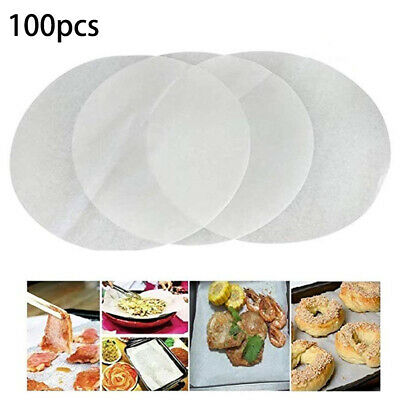 Waterproof Parchment Paper Liner Set Square Steamer White 7 Inch Bakeware • 5.80£