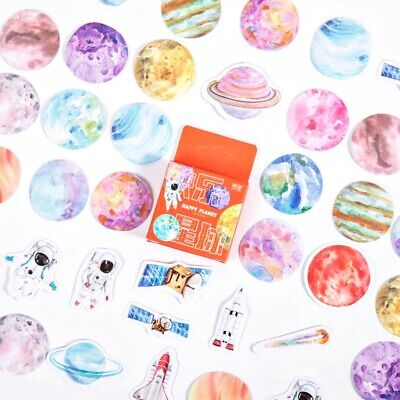 AU2.29 • Buy 46PCS Paper Sticker Book Stationery Bullet Journal Japanese Style Diary Stickers