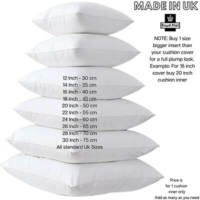 £1.99 • Buy Cushion Pad Hollow Fibre Plump Cushions Inners Fillers Inserts Pads - All Sizes