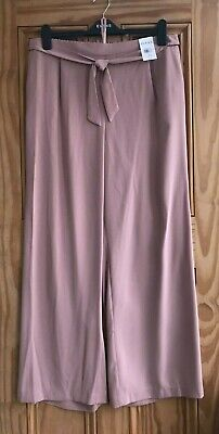 £11.99 • Buy Ex Evans NEW Pink Wide Leg Belted Work Trousers Regular Plus Size 14- 28 RRP=£32