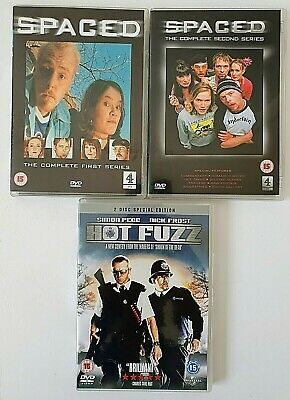 £5.50 • Buy Spaced Complete Series 1 + 2 DVD + Hot Fuzz 2 Disc DVD - Simon Pegg Nick Frost
