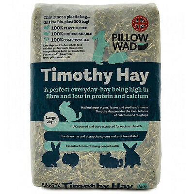 £11.59 • Buy Pillow Wad Bio Timothy Hay Large - Soft Timothy Hay In Bodegradable Packaging