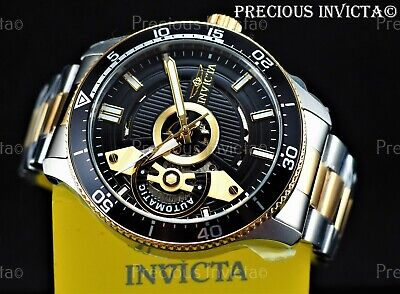 $ CDN96 • Buy ➤Invicta Men's 45mm PRO DIVER AUTOMATIC OPEN HEART Gold/Silver Two Tone SS Watch