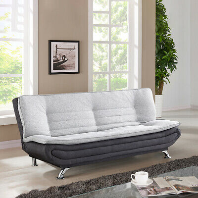 AU439.99 • Buy 3 Seater Sofa Bed Lounge Futon Couch Bed Fabric Recliner Furniture Home Sleeping