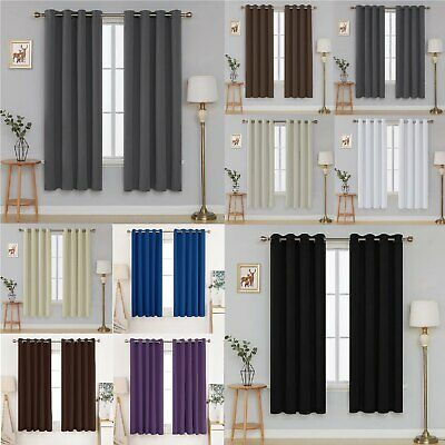 £13.99 • Buy Deconovo Thermal Insulated Blackout Super Soft Eyelet Curtains 2 Panels