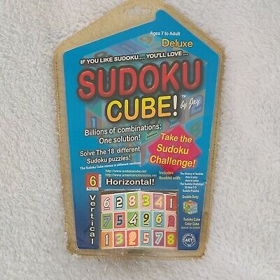 SUDOKU CUBE Deluxe Game Cube Ages  7 To Adult 18 Different Puzzles SEALED • 8.06£