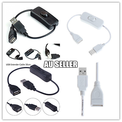 AU5.99 • Buy USB Male To Female Extension Cable With ON/OFF Switch Toggle Power  Control