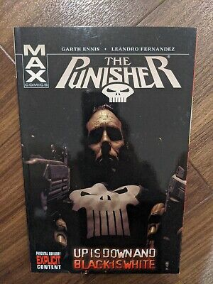 The Punisher Up Is Down Black Is White UK Paperback D Graphic Novel Rare Book • 15£