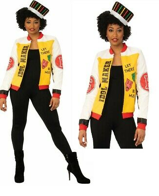 AU47.23 • Buy 90s Rapper Costume Ladies 1990s Rap Star Fancy Dress Outfit Size 8-18