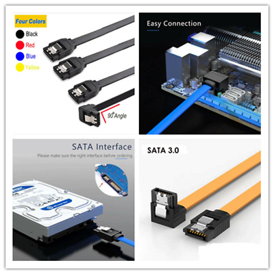 AU4.50 • Buy SATA 3.0 Data Cable 6Gbps Extender With Straight/Angle Lead Clip For HDD  SSD