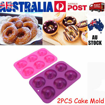 AU10.99 • Buy 2PCx Silicone Donut Muffin Chocolate Cake Cookie Cupcake Baking Mold Mould Tray