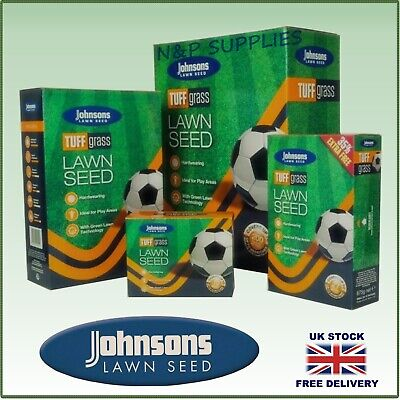 £8.19 • Buy Johnsons Tuff  Grass Lawn Seed- Grass Dog Patch Resistance Hardwearing Quick Fix