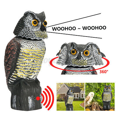 £17.26 • Buy Garden Realistic Owl Decoy Statue With Rotating Head & Sound Shadow Control UK
