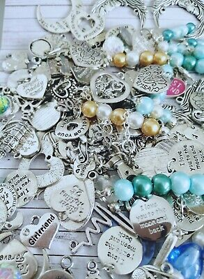 80G  Mixed Tibetan Silver  Charms Jewellery Making Craft UK Seller Great Value