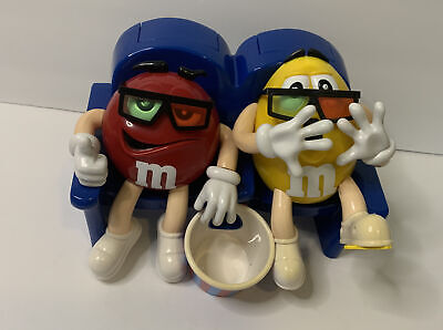 $18.99 • Buy M&M's M&M MMS Candy Dispenser RARE Yellow Red VINTAGE Still Works