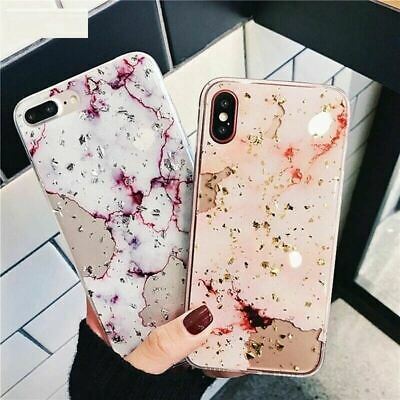 AU7.12 • Buy Marble Bling Case For IPhone 11 Pro XS Max XR 8 Plus 7 6s Tough Slim Soft Cover