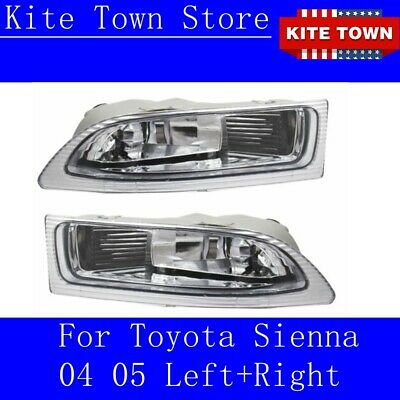 $39.99 • Buy Pair Of  Front Fog Driving Lamp Light Cover For Toyota Sienna 04 05  Left+ Right