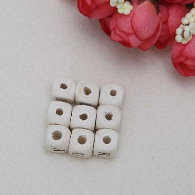£3.17 • Buy Wooden Alphabet Beads Letter Bead For Toy Bracelet Necklace Jewelry Accessories