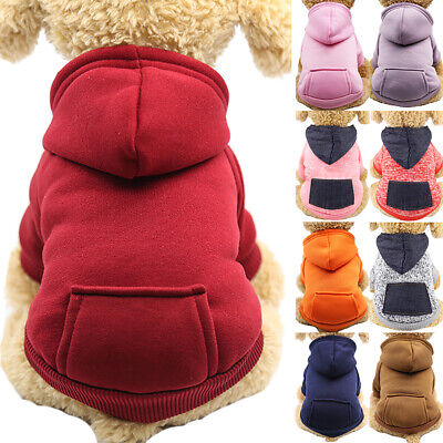 £3.99 • Buy Pet Dog Winter Hooded Clothes Puppy Cat Hoodie Warm Jumper Coat Soft Outwear UK;