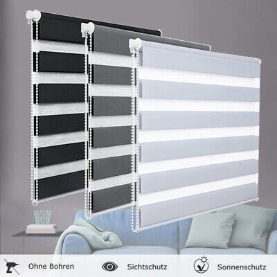 £20.99 • Buy Premium Day And Night Zebra/Vision Window Roller Blinds 7 Sizes 150cm Drop