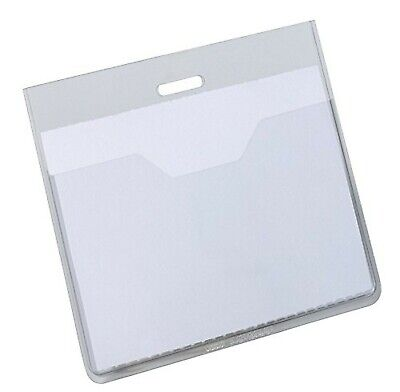 £41.99 • Buy Durable Visitor Name Badge 60 X 90 Mm Transparent   Pack Of 20 Badges   Inclu...