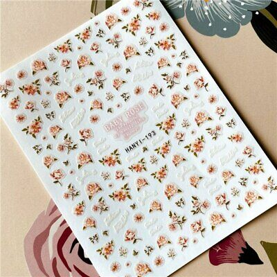 £2.25 • Buy Nail Art Stickers Transfers Decals Spring Flowers Floral Roses Rose (HAN193)