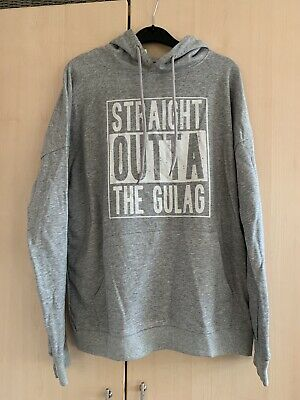 £11 • Buy ❤️ NEW Call Of Duty Warzone Straight Outta Gulag Novelty Grey Hoody Top Medium❤️