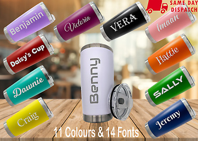 £16.99 • Buy Personalised Name Travel Coffee Mug/Cup Stainless Steel Vacuum Insulated Flask