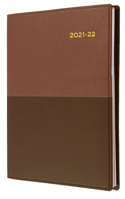 AU21.95 • Buy Collins Vanessa 2021 2022 Financial Year Diary A5 Week To View Brown Tan FY385