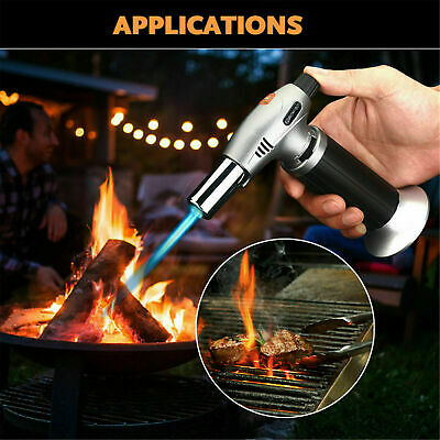 £11.99 • Buy Butane Blow Torch Refillable Lighter Culinary Cooking Baking Crafts Creme Brulee