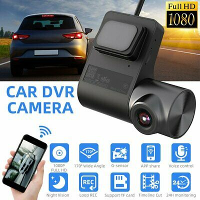 AU40.59 • Buy HD 1080P WIFI Dash Cam Car DVR Mini Camera Loop Video Recorder Night Vision