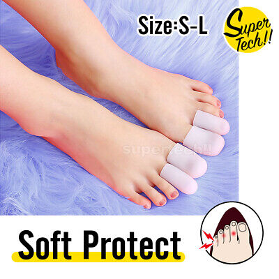 AU5.35 • Buy Silicone Toe Sleeve Gel Toe Cap Cover Protector Finger Tube Corn Pain Relief